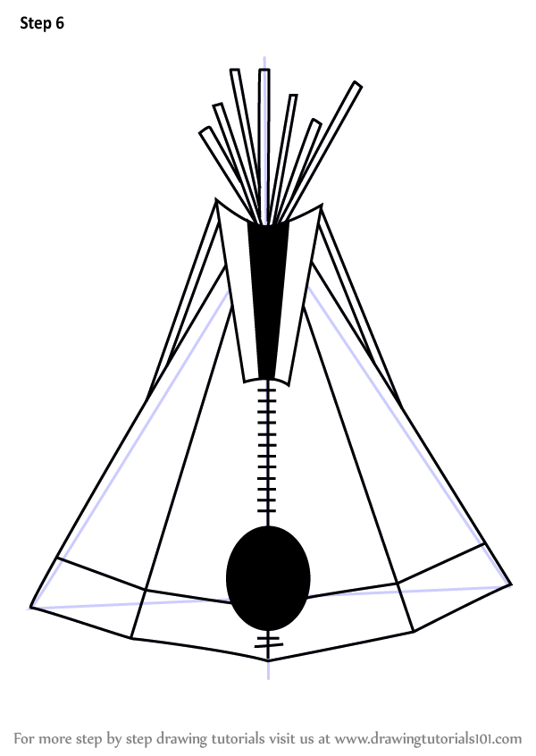 Learn How to Draw an Indian Tipi (Everyday Objects) Step