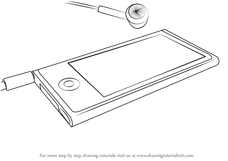 Learn How to Draw Ipod Nano (Everyday Objects) Step by