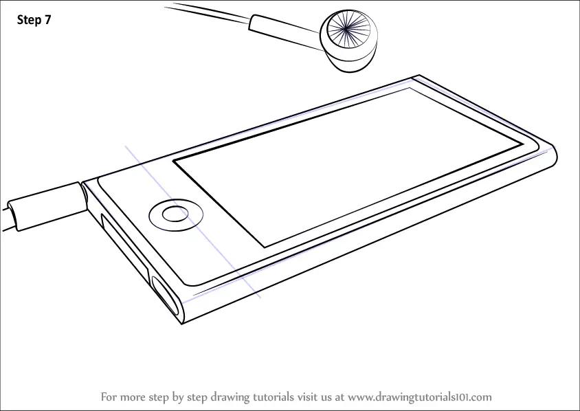 Step by Step How to Draw Ipod Nano : DrawingTutorials101.com