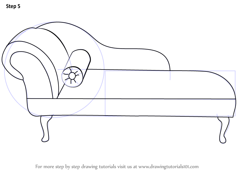 Learn How to Draw a Chaise Lounge Furniture Step by Step