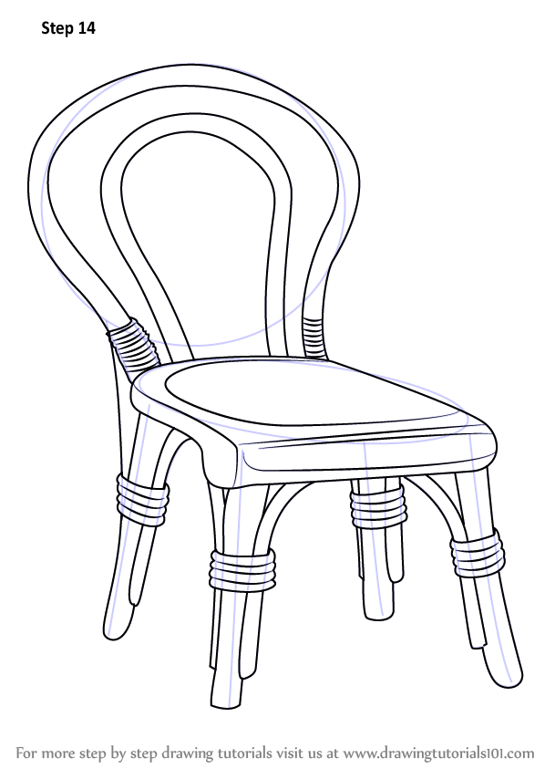 Learn How to Draw a Decorative Chair (Furniture) Step by