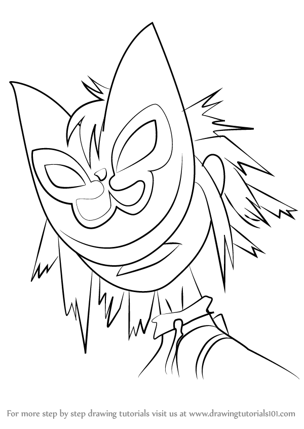 Gorillaz 2d Coloring Coloring Pages
