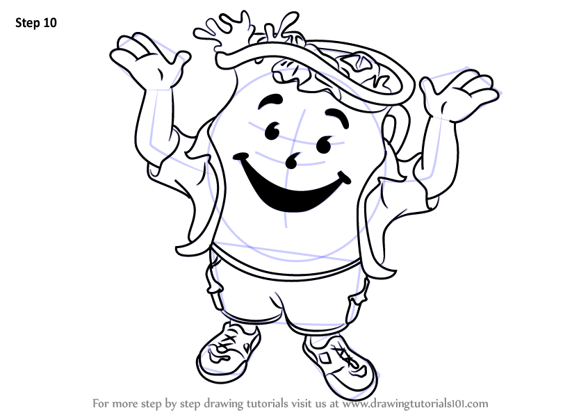 Learn How to Draw Kool-Aid Man (Mascots) Step by Step