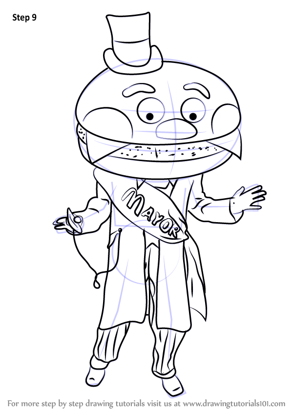 Learn How to Draw Mayor McCheese (Mascots) Step by Step