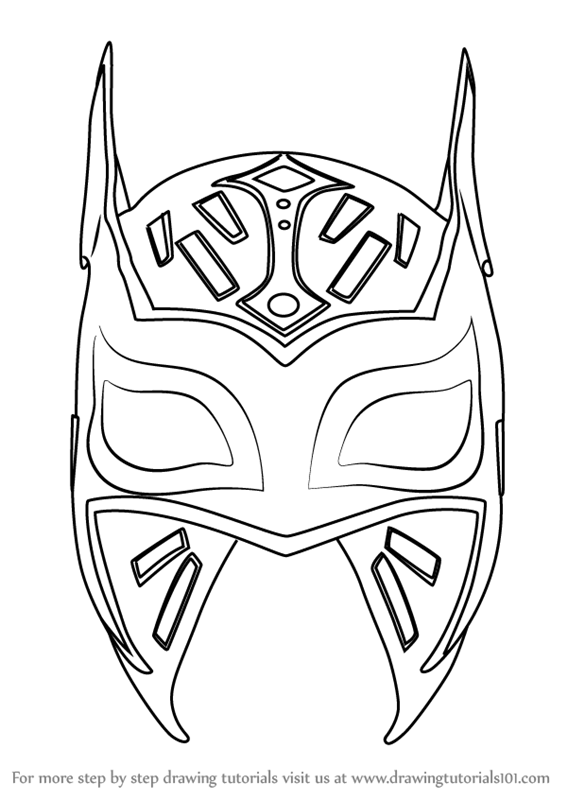 Learn How to Draw Sin Cara Mask (Mascots) Step by Step