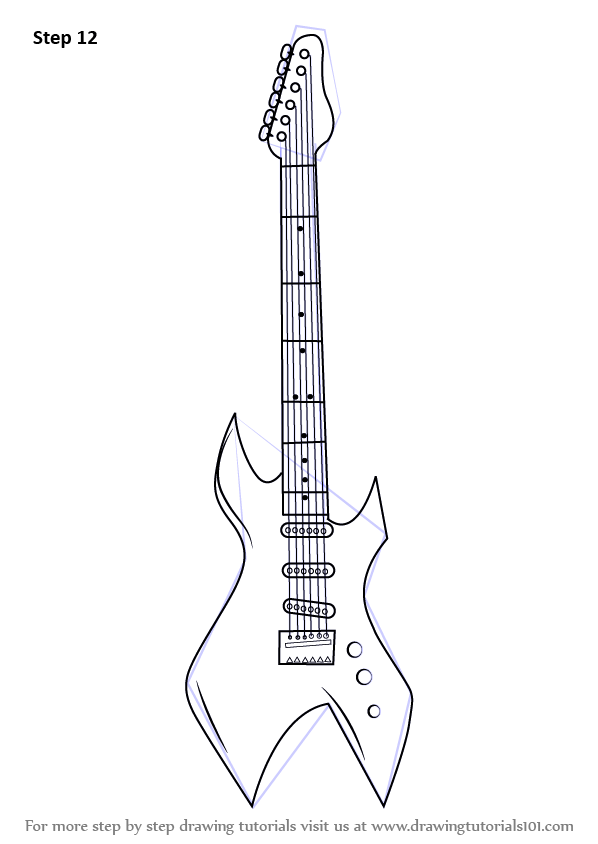 Learn How to Draw an Electric Guitar (Musical Instruments