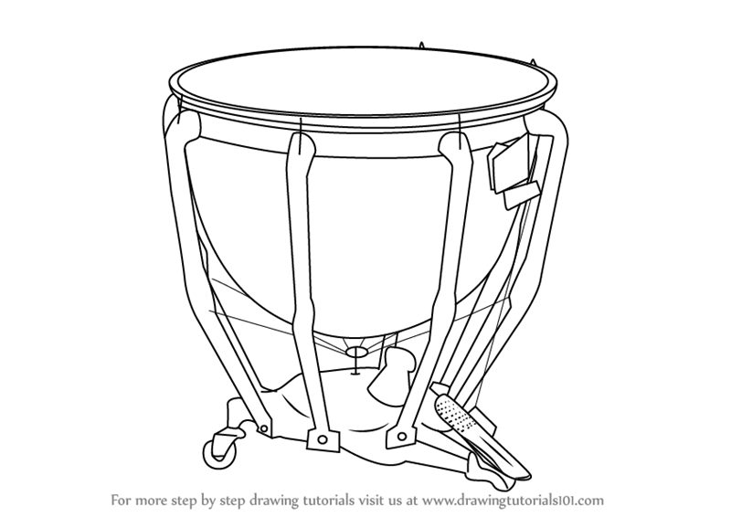 Learn How to Draw Timpani (Musical Instruments) Step by