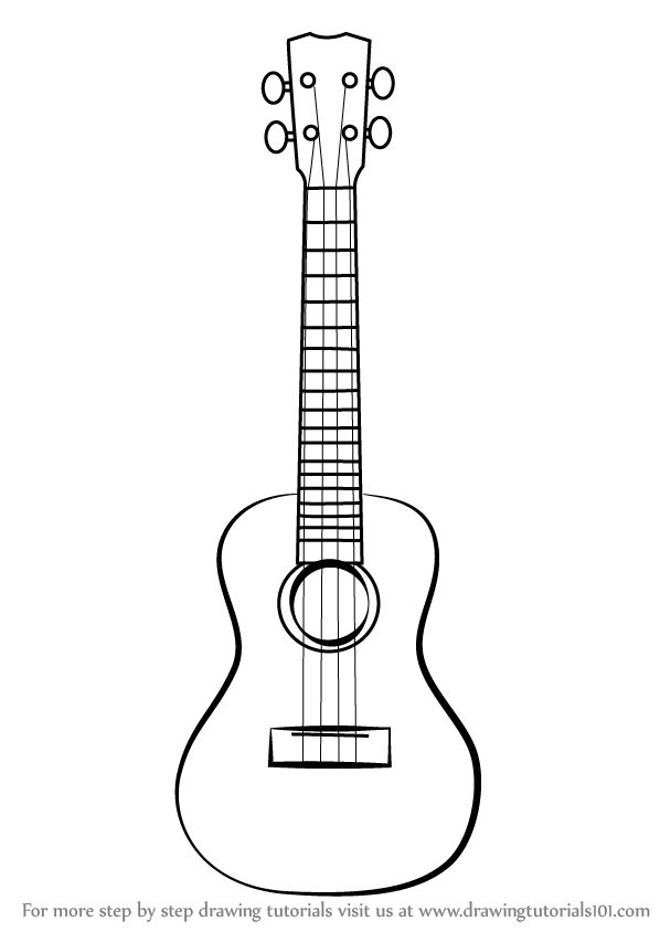 Learn How to Draw a Ukulele (Musical Instruments) Step by