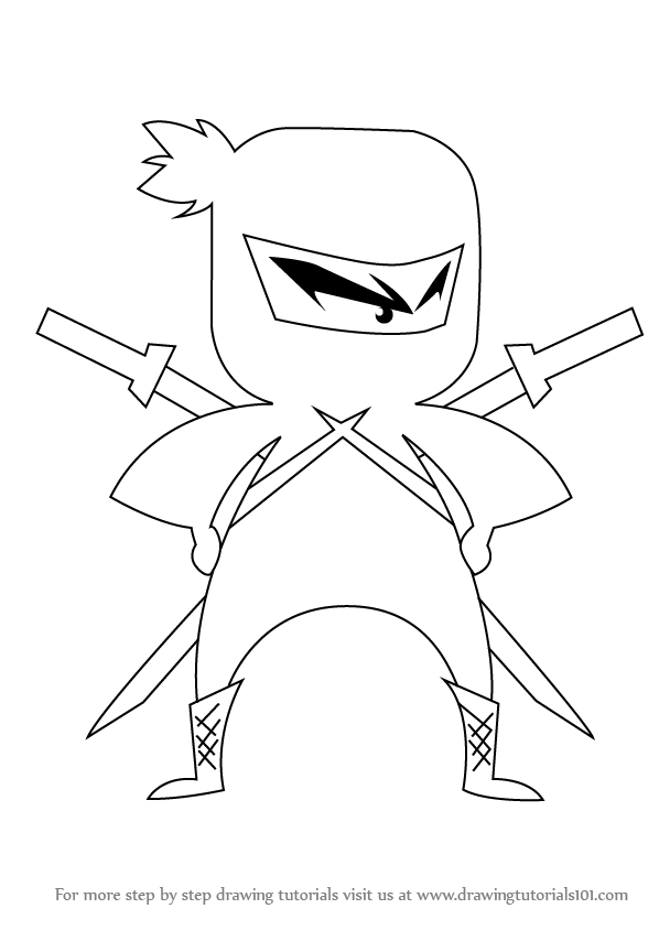 Learn How to Draw Ninja for Kids (Ninjas) Step by Step