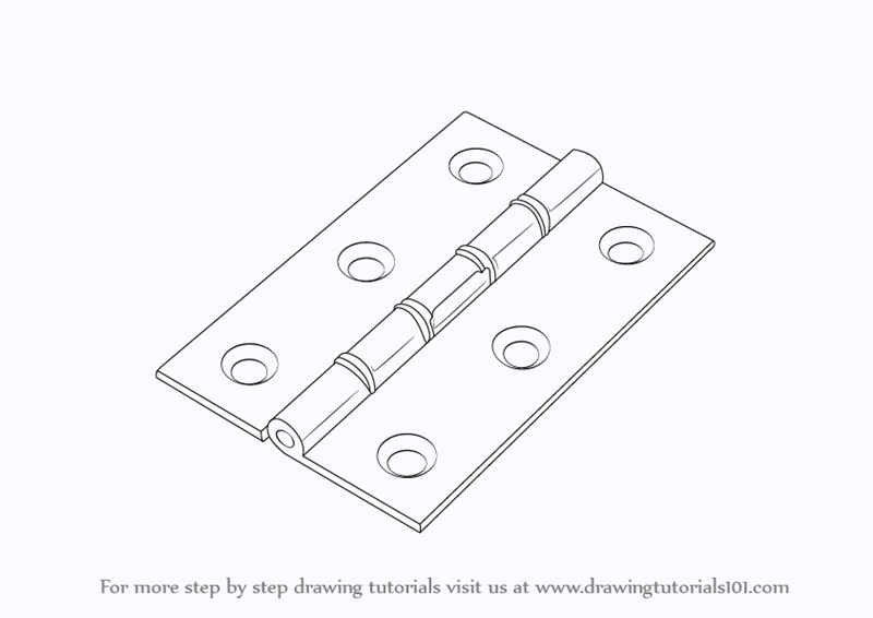 Step by Step How to Draw Hinges : DrawingTutorials101.com