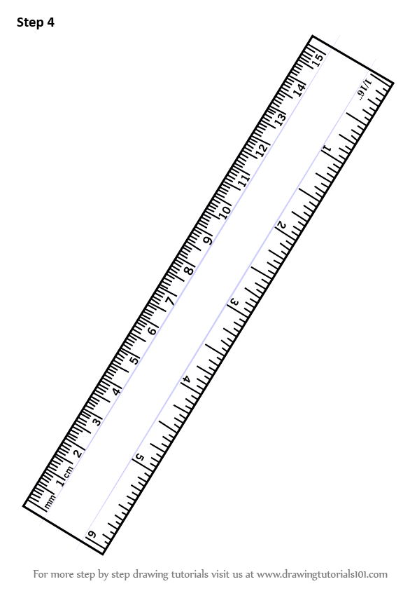 Learn How to Draw Ruler (Tools) Step by Step : Drawing