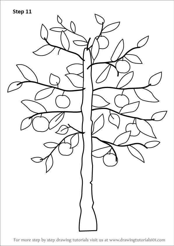 Easy Drawings Tree Creepy