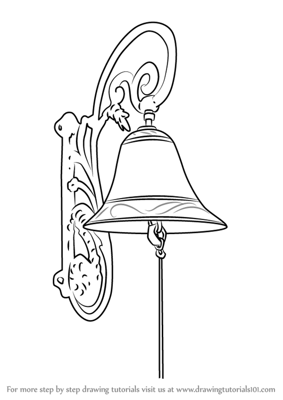 Learn How to Draw Vintage Door Bell (Vintage Items) Step