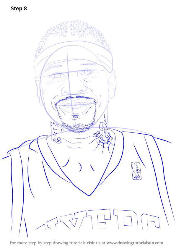 Learn How to Draw Allen Iverson Basketball Players Step
