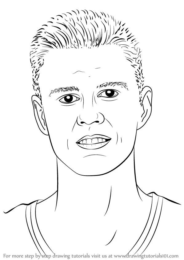 Step by Step How to Draw Kristaps Porzingis