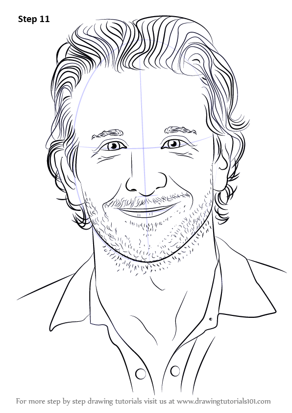 Learn How to Draw Bradley Cooper (Celebrities) Step by