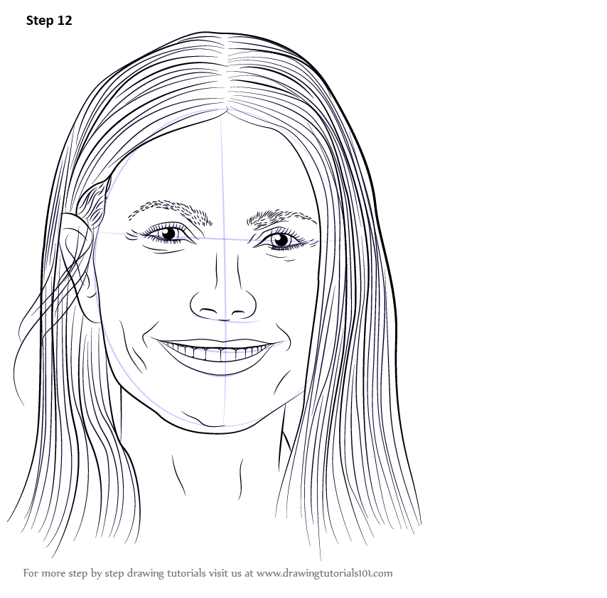 Learn How to Draw Gwyneth Paltrow (Celebrities) Step by