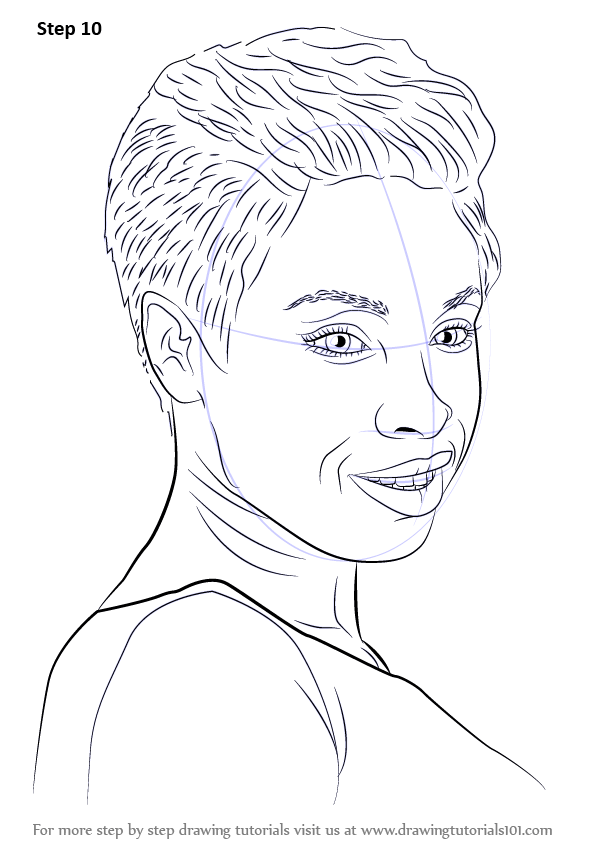 Learn How to Draw Jennifer Hudson (Celebrities) Step by