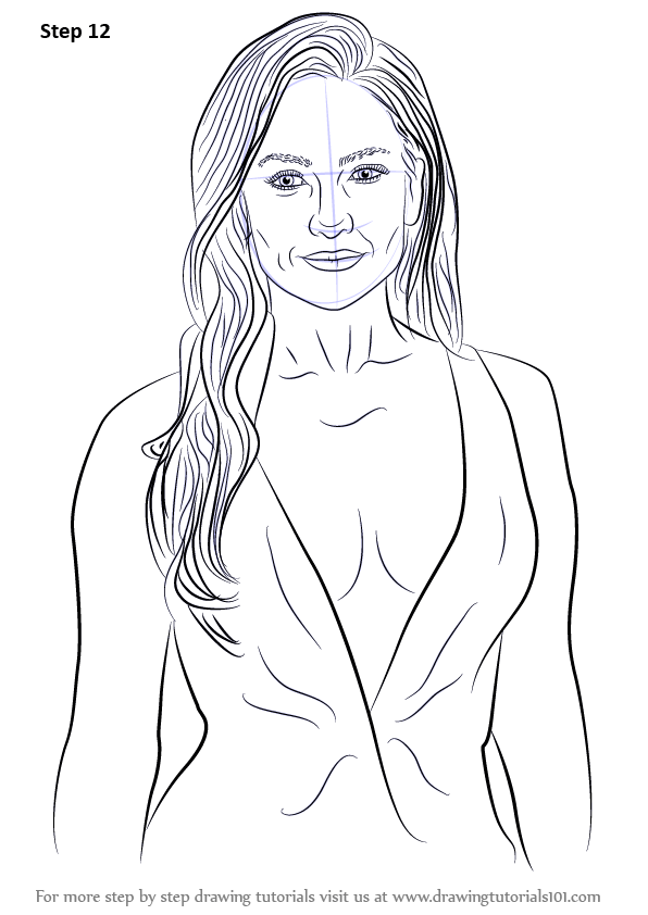 Learn How to Draw Jennifer Lopez (Celebrities) Step by