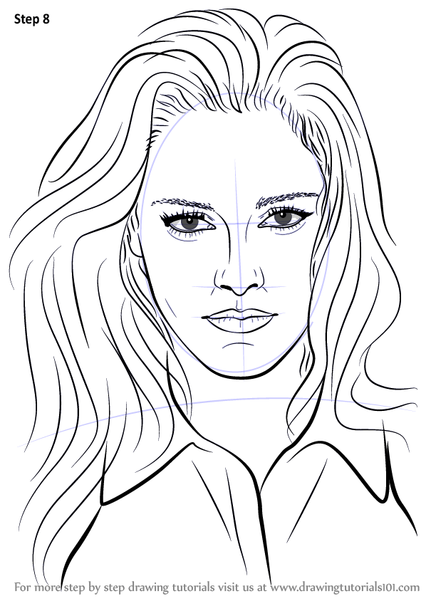 Learn How to Draw Kristen Stewart (Celebrities) Step by