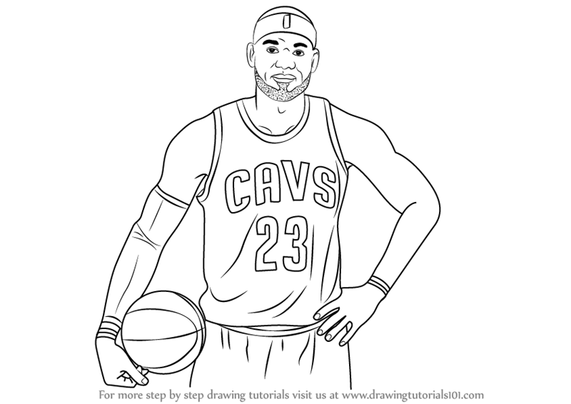 Learn How to Draw LeBron James (Celebrities) Step by Step