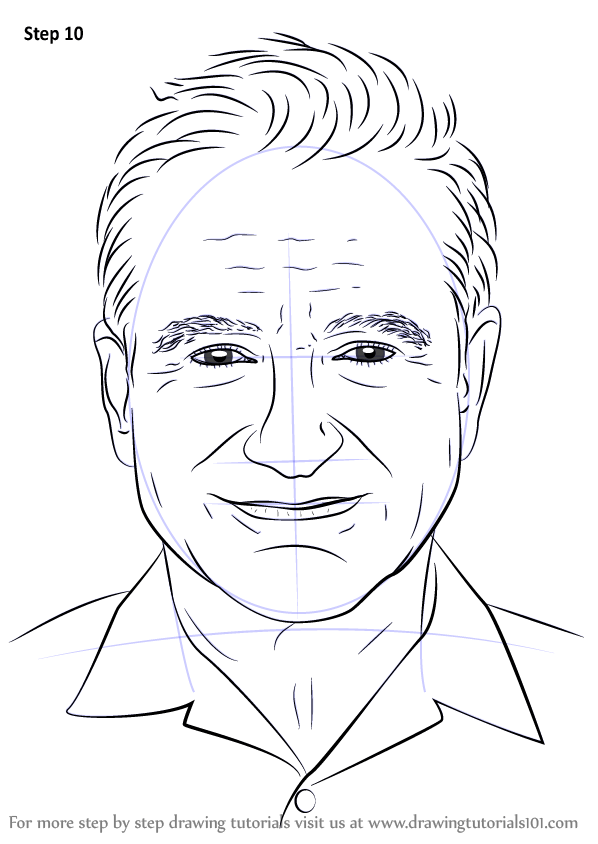 Learn How to Draw Robin Williams (Celebrities) Step by