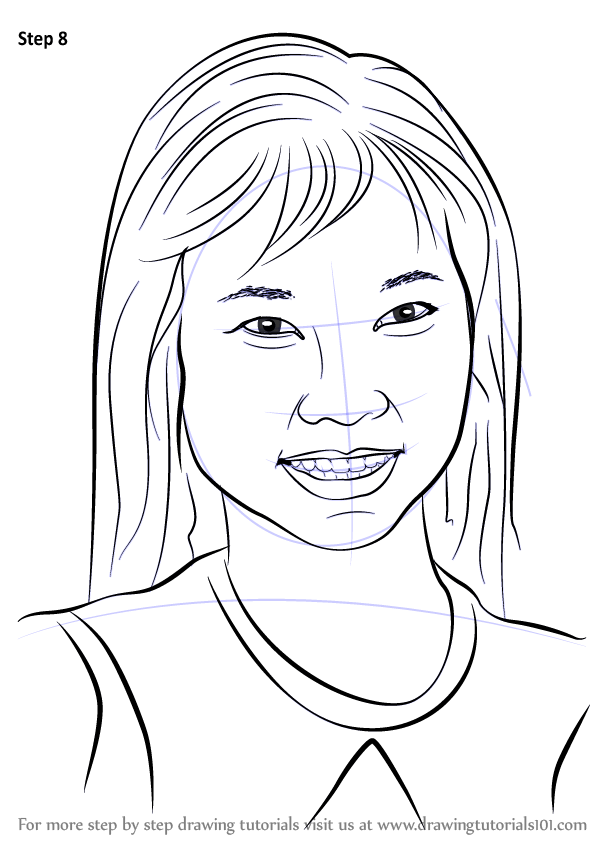 Learn How to Draw Thuy Trang (Celebrities) Step by Step