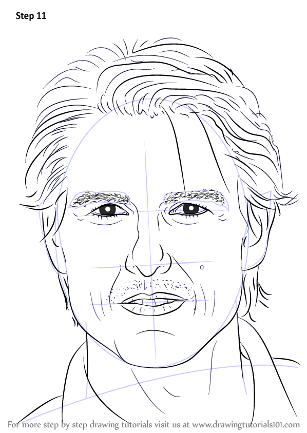 Learn How to Draw Tom Cruise (Celebrities) Step by Step