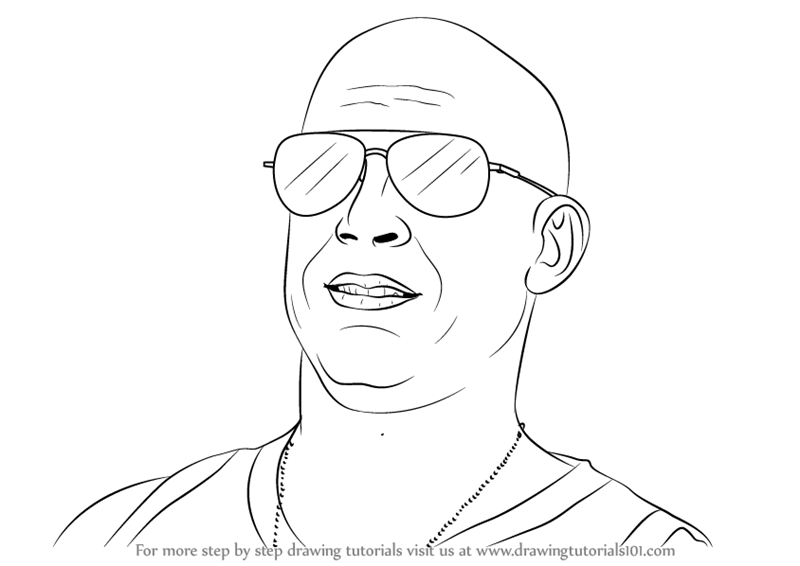 Learn How to Draw Vin Diesel (Celebrities) Step by Step