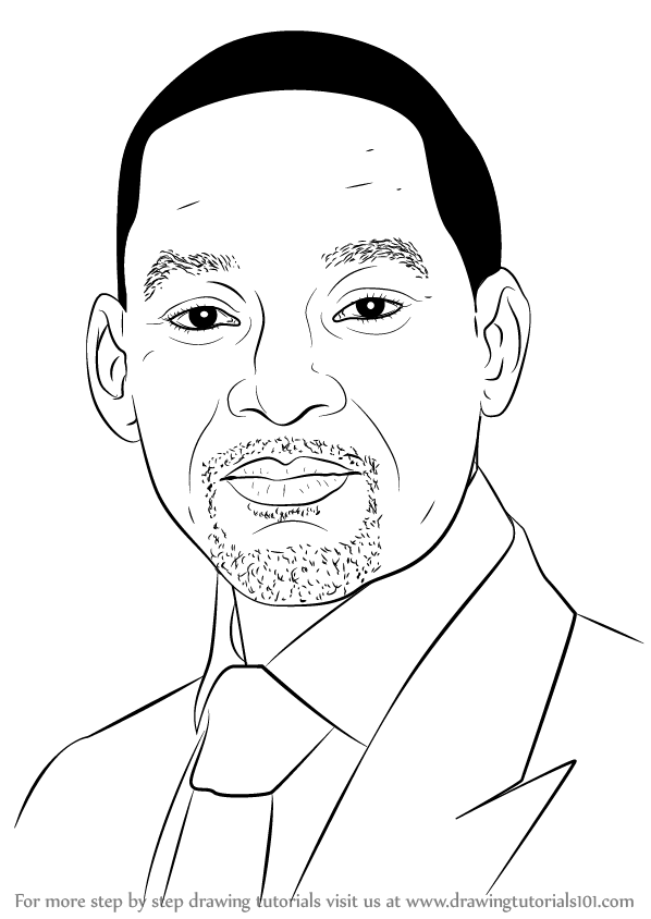 Learn How to Draw Will Smith (Celebrities) Step by Step