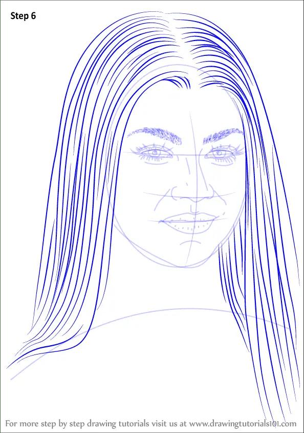 Step By Step How To Draw Zendaya