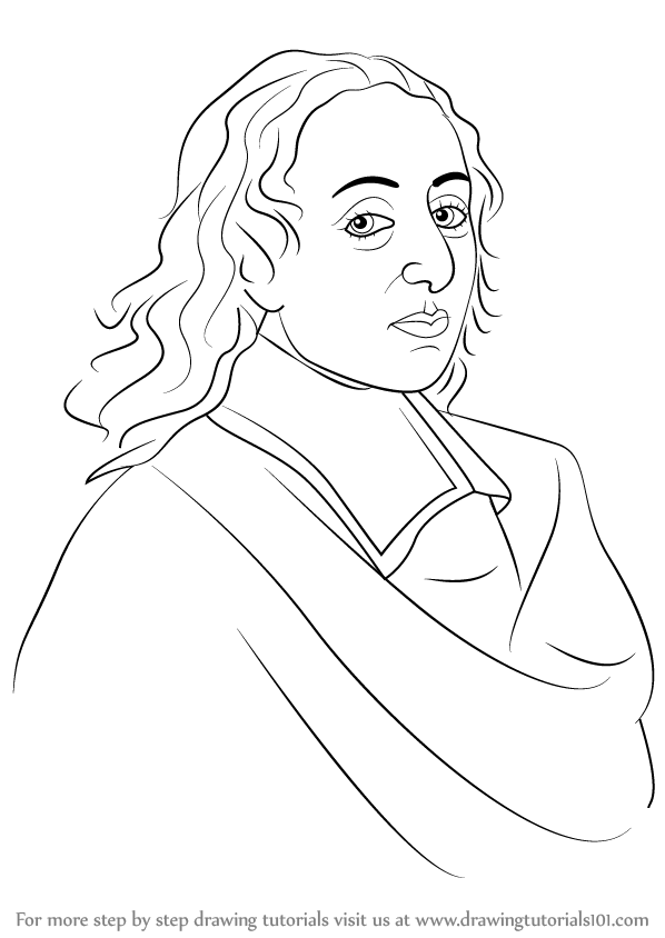 Learn How to Draw Blaise Pascal (Famous People) Step by