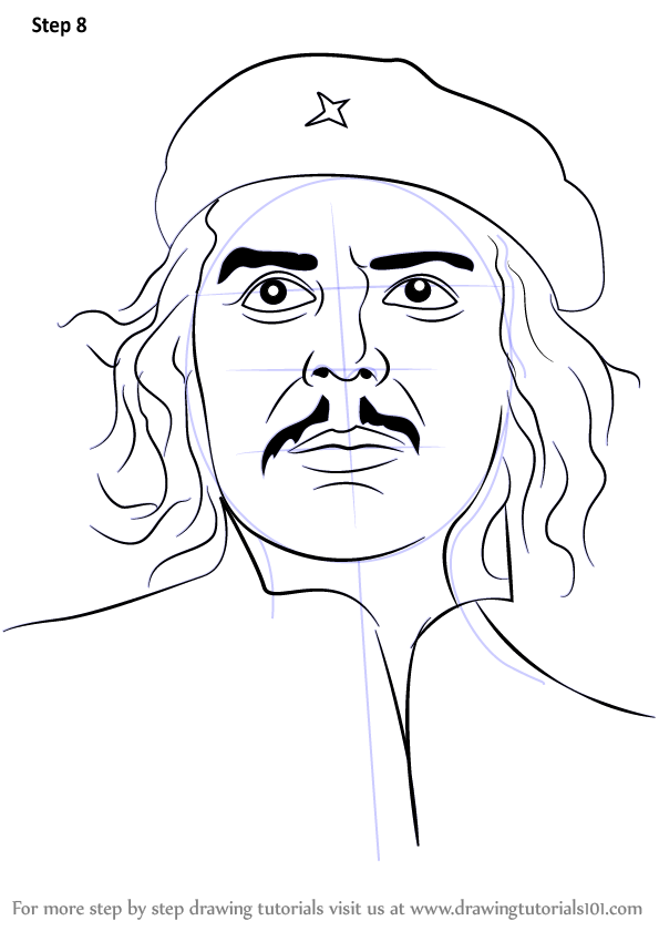 Learn How to Draw Che Guevara (Famous People) Step by Step