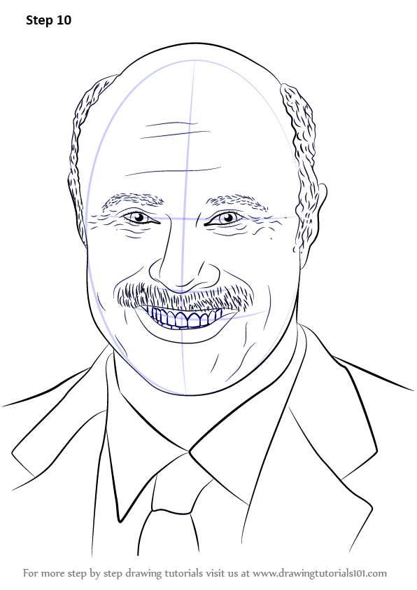 Learn How to Draw Dr. Phil McGraw (Famous People) Step by