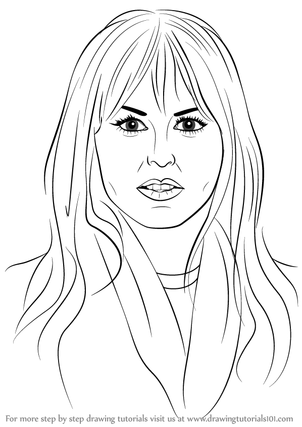 Learn How to Draw Rachel Zoe (Famous People) Step by Step
