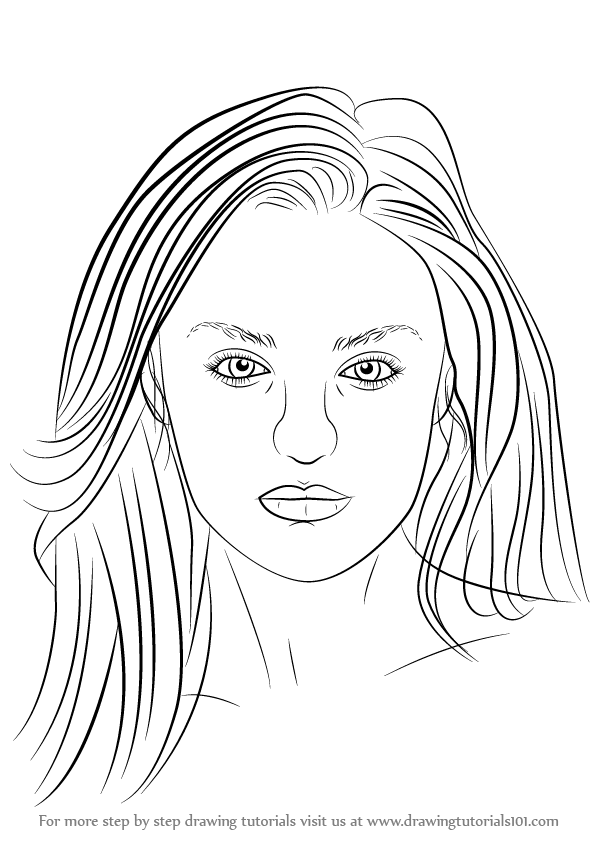 Learn How to Draw Candice Swanepoel (Female Models) Step