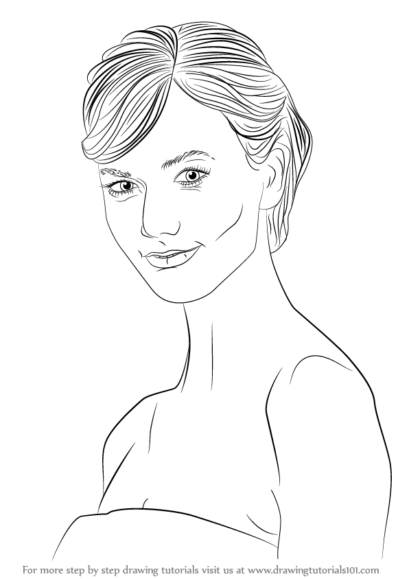 Learn How to Draw Karlie Kloss (Female Models) Step by
