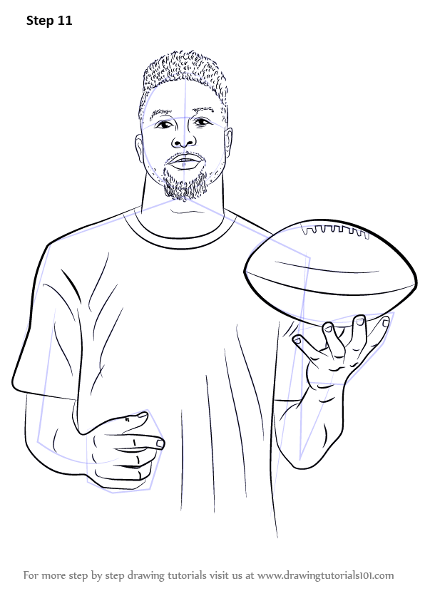 Learn How To Draw Odell Beckham Jr Footballers Step By