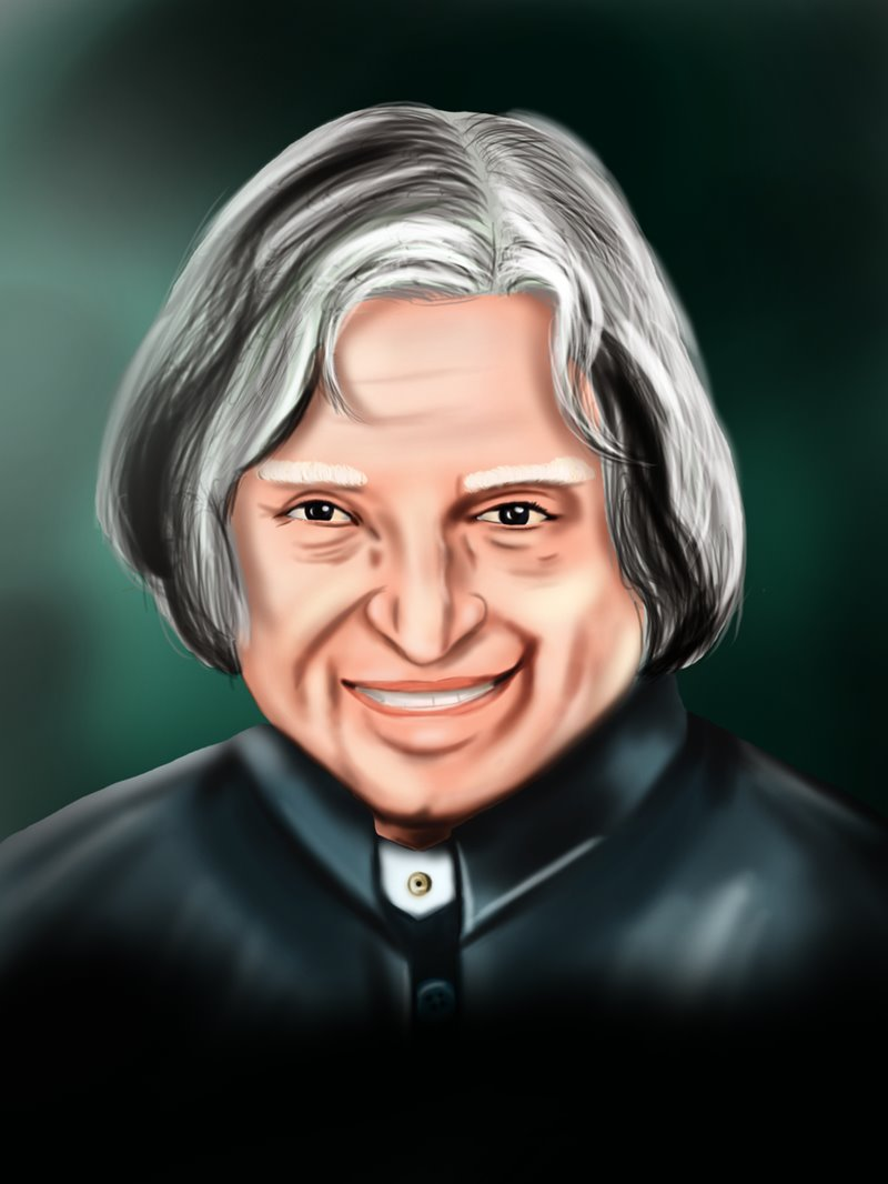 learn how to draw apj abdul kalam politicians step by step drawing tutorials