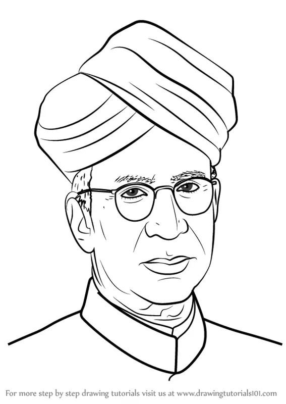 Dr S Radhakrishnan Biography Sketch Coloring Page