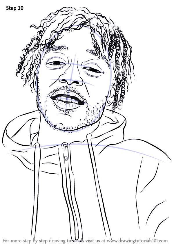 Learn How to Draw Lil Uzi Vert (Rappers) Step by Step