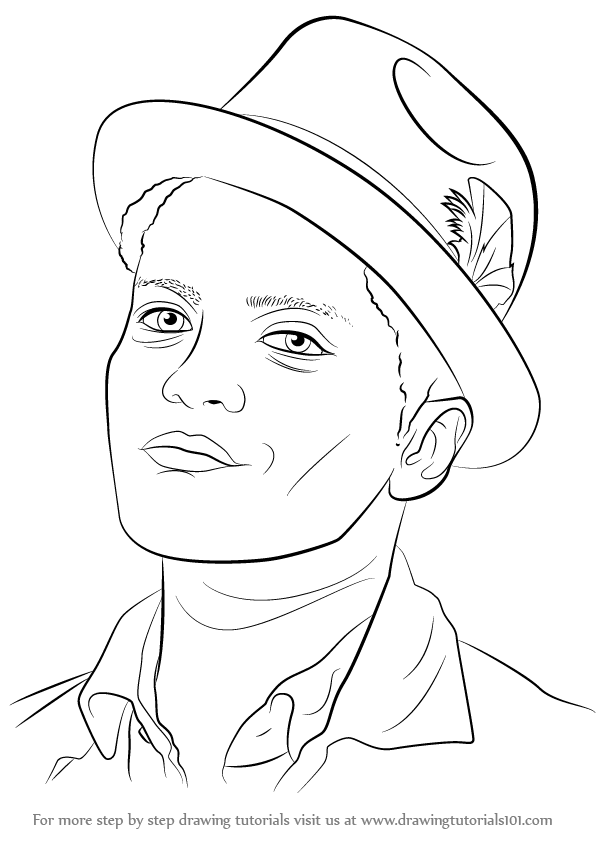 Learn How to Draw Bruno Mars (Singers) Step by Step