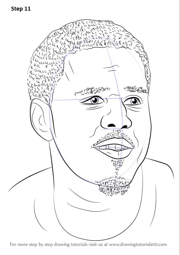 Step by Step How to Draw J. Cole : DrawingTutorials101.com