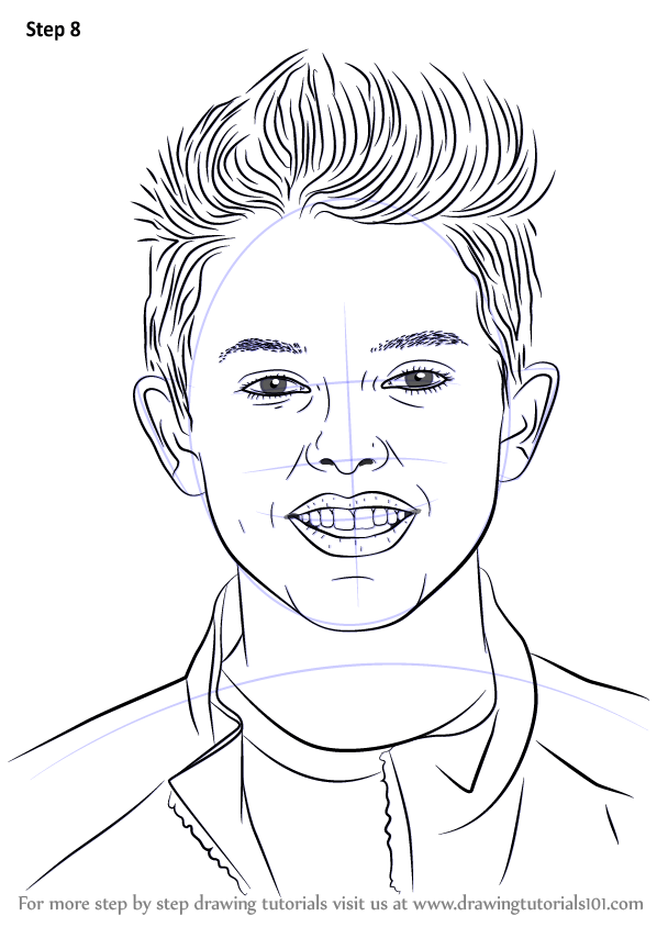 Learn How To Draw Jacob Sartorius Singers Step By Step