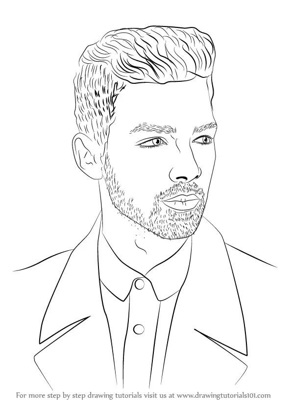 Step by Step How to Draw Joe Jonas : DrawingTutorials101.com