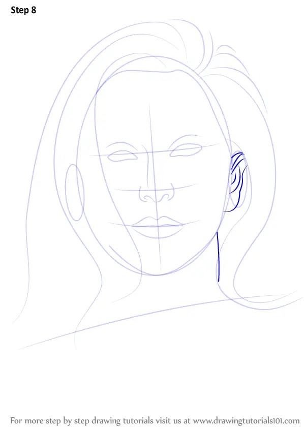 Step by Step How to Draw Lady Gaga  DrawingTutorials101com