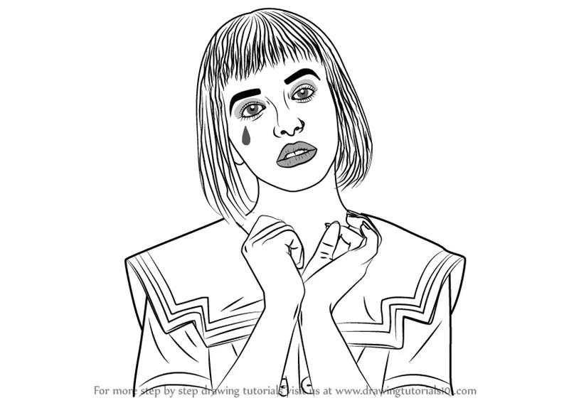 Learn How To Draw Melanie Martinez Singers Step By Step