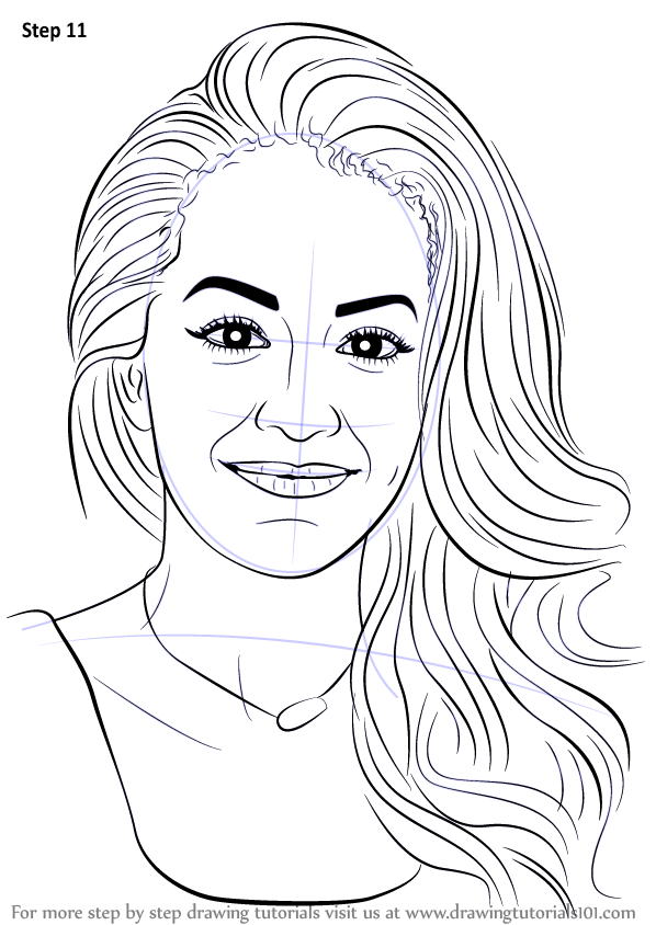 Learn How to Draw Rita Ora (Singers) Step by Step