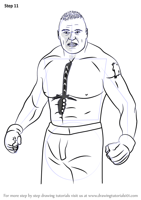 Learn How to Draw Brock Lesnar (Wrestlers) Step by Step