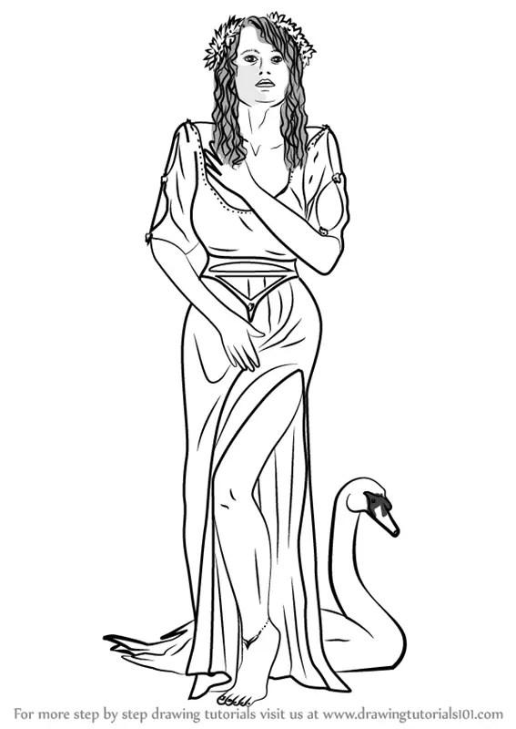 Learn How to Draw Aphrodite Goddess (Greek Gods) Step by